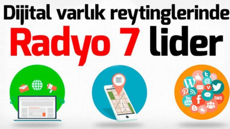 Dijital Varlık Reytinglerinde Radyo7 Lider