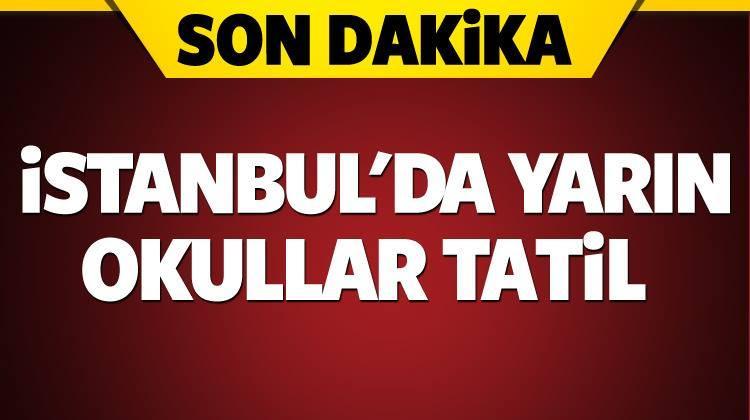 İstanbulda Okullar Çarşamba günü de Tatil