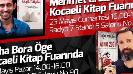 Talha Bora Öge ve Mehmet Ercan Kocaeli Kitap Fuarında