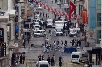 19 Mart'ta İstiklal Caddesi'nde bombalı saldırı meydana gelendi.  Fotoğraf: İsmail Coşkun