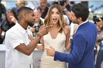 69. Cannes Film Festivali'nde gösterimi yapılacak olan 'Hands of Stone' için düzenlenen photocall sırasında aktör Edgar Ramirez (sağ), aktris Ana De Armas ile aktör ve şarkıcı Usher Raymond IV (sol) poz verdi.