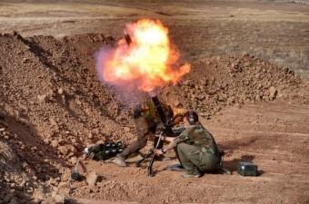 Musul operasyonu kapsamında Irak`ta terör örgütü DEAŞ'e karşı Peşmerge güçleriyle birlikte çatışan Amerikan askeri İHA objektifleri tarafından görüntülendi.  Fotoğraf: İsmail Coşkun