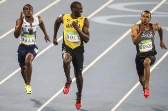 Brezilya'nın Rio De Janeiro kentinde düzenlenen 2016 Yaz Olimpiyat Oyunlarında atletizm erkekler 100 metrede dünyaca ünlü Jameikalı atlet Usain Bolt da yarıştı.