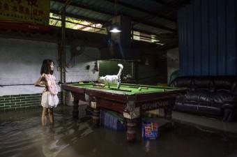 Çin'de etkili olan Nida Tayfunu, güneydeki Guangdong eyaletinde su baskınlarına yol açtı.