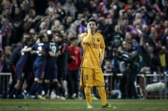 UEFA Şampiyonlar Ligi çeyrek finalinde Atletico Madrid, Vicente Calderon Stadı'nda Barcelona ile karşılaştı. Maç sonunda Barcelona oyuncusu Lionel Messi üzüntü yaşadı.