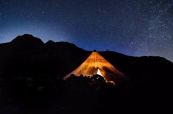 Tunceli'de objektife yansıyan yıldızların zifiri karanlıktaki dansı, gökyüzünün gizemli güzelliklerini sergiledi.  Fotoğraf: Sidar Eren