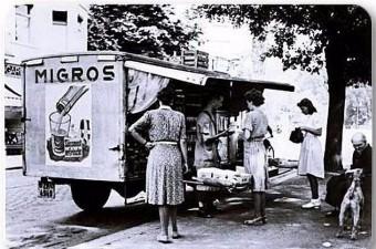 107. 1960'lı yıllar. Migros kamyonu Etiler'de.