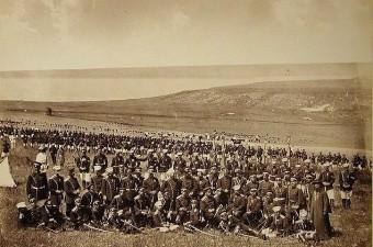 90. Safraköy'de (Sefaköy) Rus askerleri.