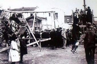 113. Cinci Meydanı'nda kurulan panayır alanı (1930'lu yıllar. Kadırga)