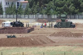 Yerli üretim savunma sistemi, Suriye sınırındaki Kilis'e kurulmaya başlandı.