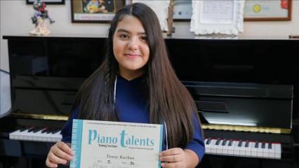 Küçük piyanist Tunay Kurban'a uluslarası ödül